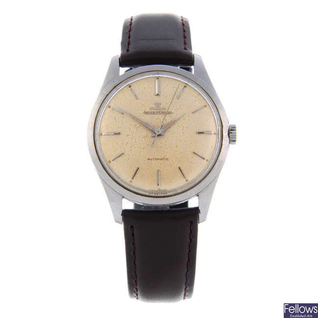 JAEGER-LECOULTRE - a gentleman's stainless steel wrist watch.