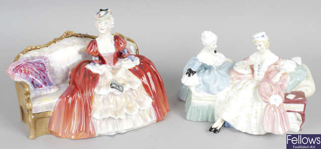 A group of thirteen Royal Doulton figurines.