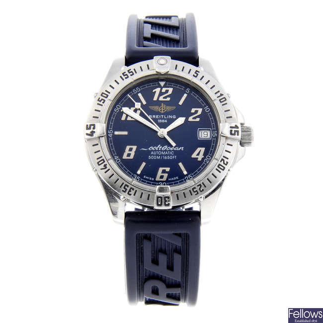 BREITLING - a gentleman's stainless steel ColtOcean wrist watch.