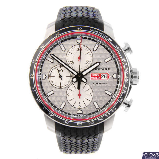 CHOPARD - a gentleman's stainless steel Mille Miglia Competitor Edition 2017 chronograph wrist watch.