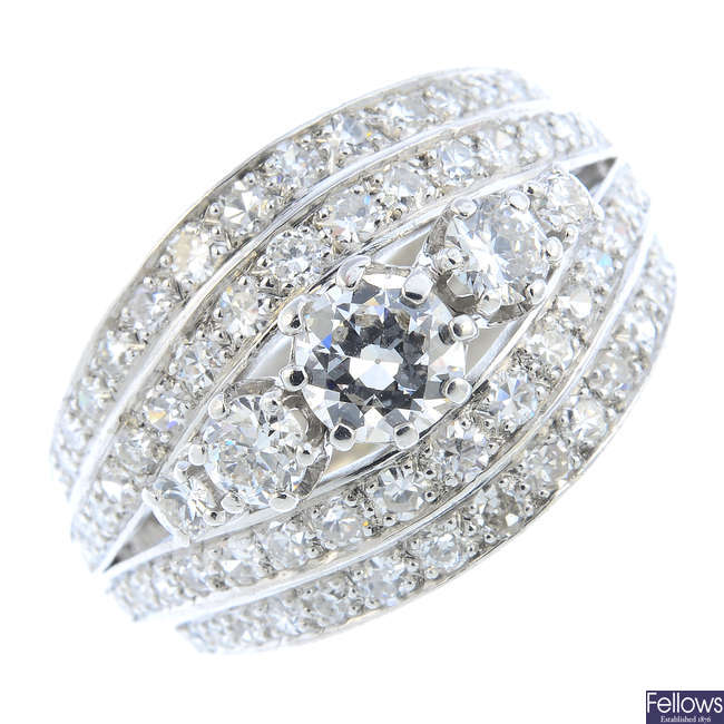 CARL BUCHERER - a diamond dress ring.