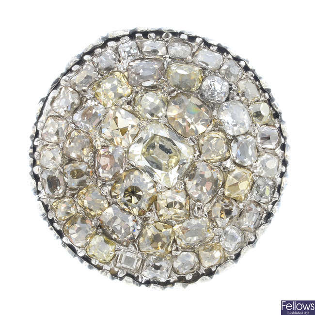 A late Georgian diamond cluster ring.
