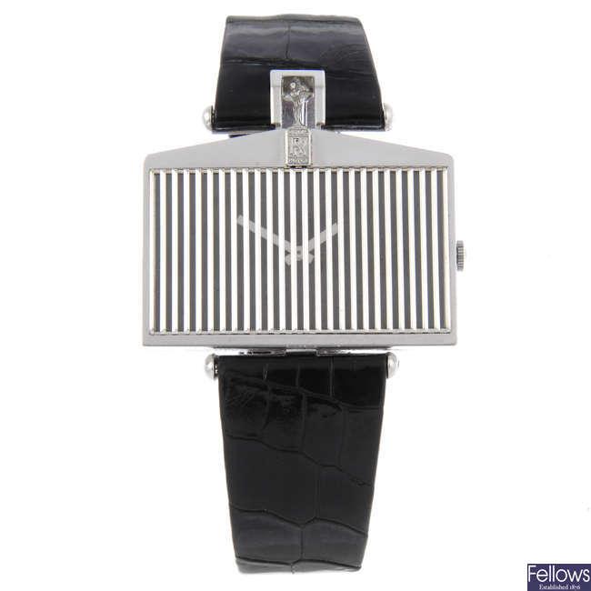 CORUM - a gentleman's 18ct white gold Rolls Royce wrist watch.