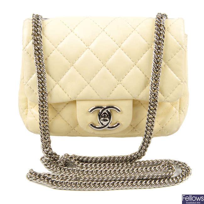 CHANEL - a Mini Flap handbag.