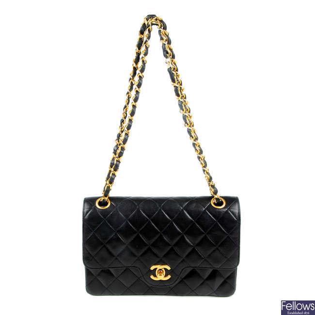 CHANEL - a vintage Small Double Flap handbag.