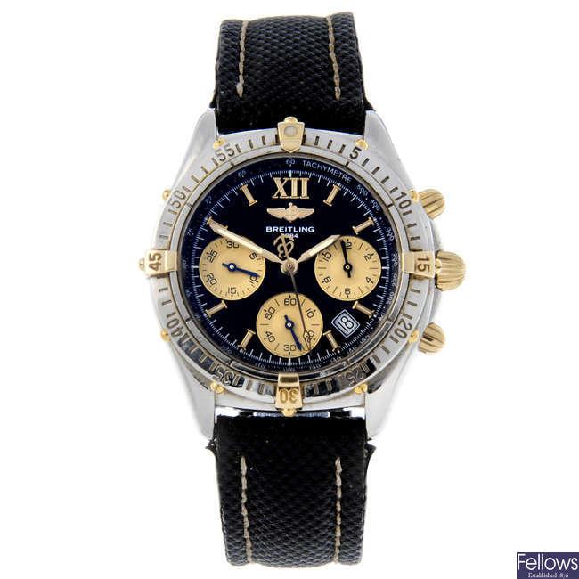 BREITLING - a gentleman's stainless steel Windrider Chrono Jetstream chronograph wrist watch.