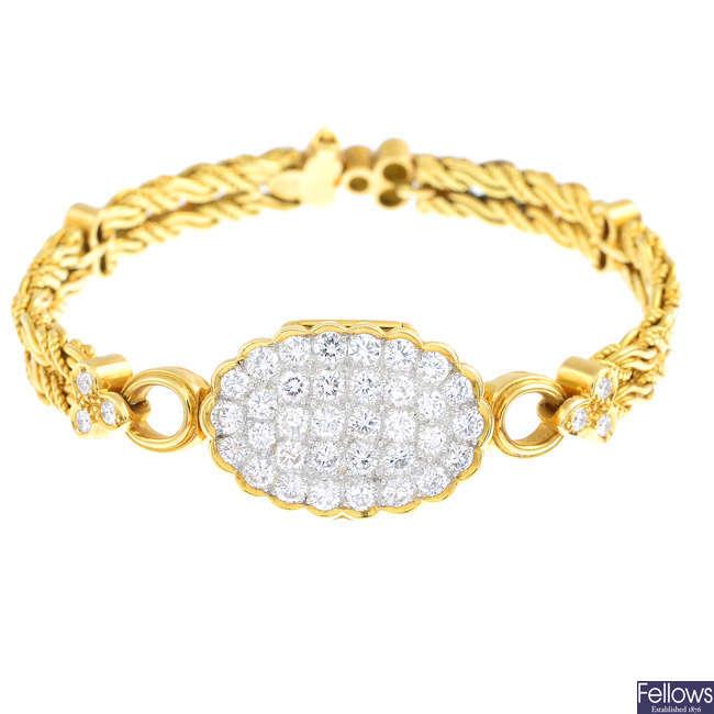 GUBELIN - a lady's diamond cocktail watch.