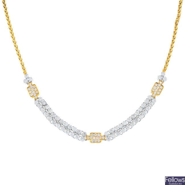 CHOPARD - a diamond necklace.