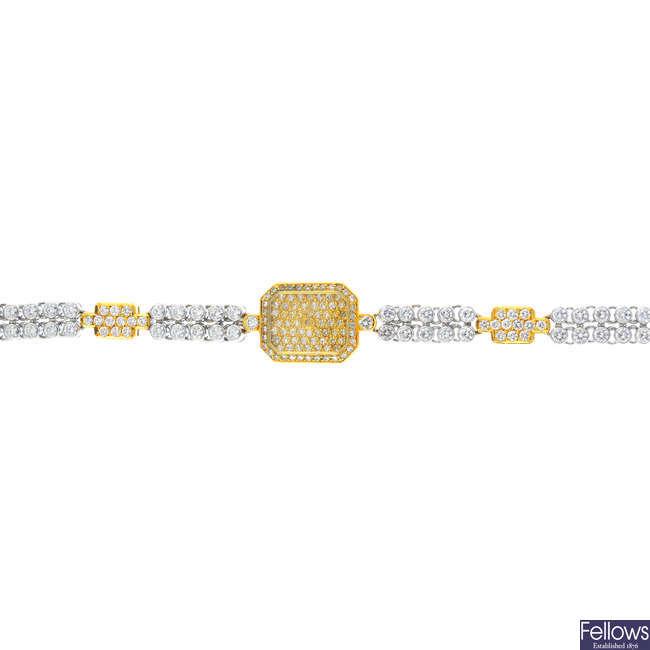 CHOPARD - a diamond cocktail watch.