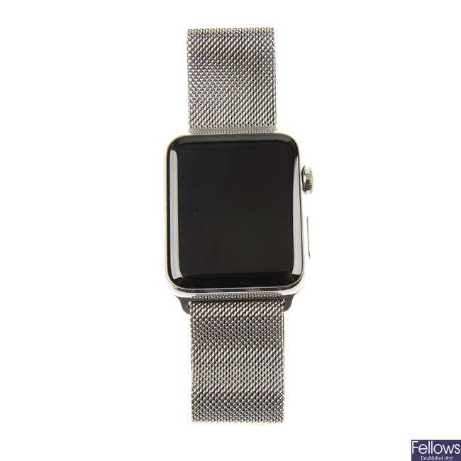 APPLE - a gentleman's bracelet watch.