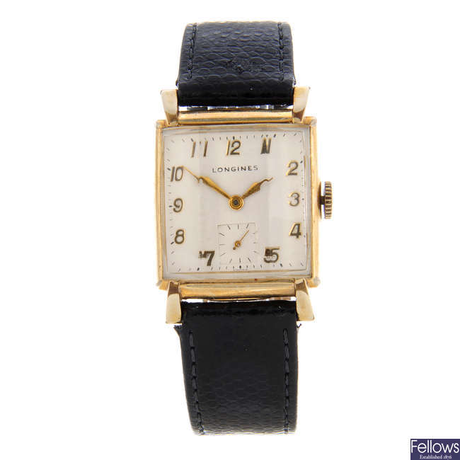 LONGINES - a gold filled wrist watch with two Longines wrist watches.