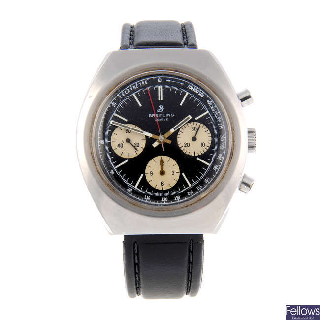 BREITLING - a gentleman's stainless steel chronograph wrist watch.