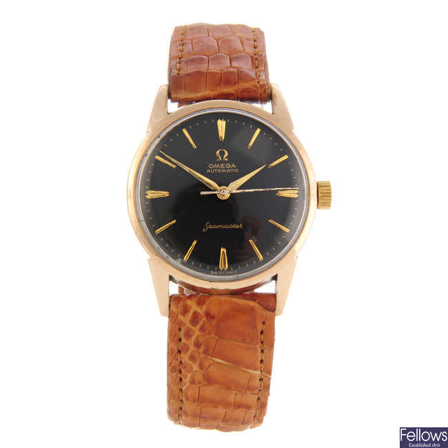 OMEGA - a gentleman's gold plated Seamaster wrist watch.
