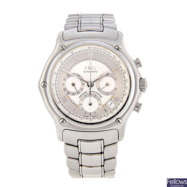 EBEL - a gentleman's stainless steel Le Modulor chronograph watch.