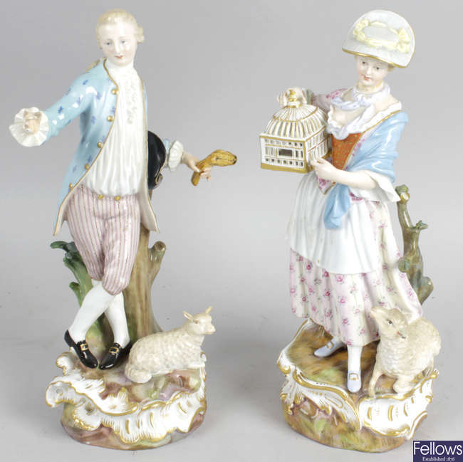A pair of late 19th century German figures.