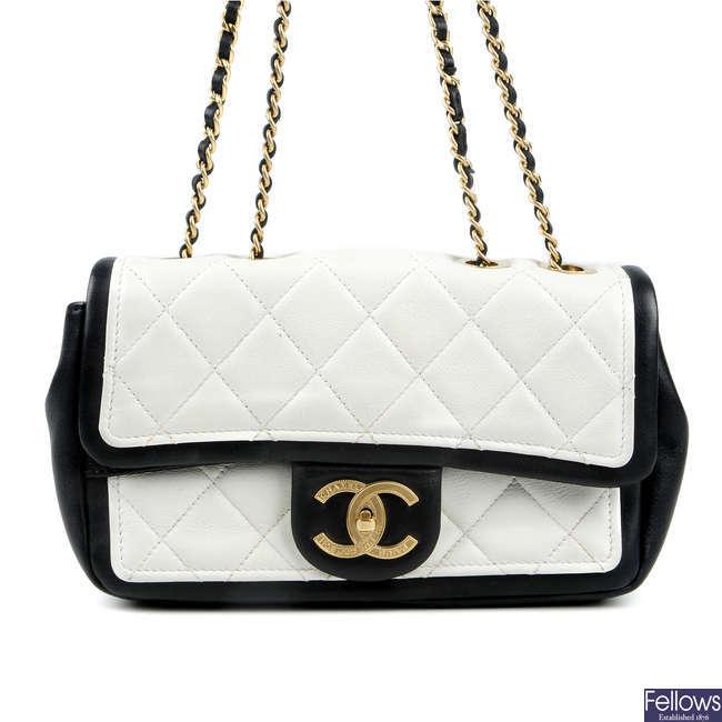 CHANEL - a Graphic New Mini Flap handbag.