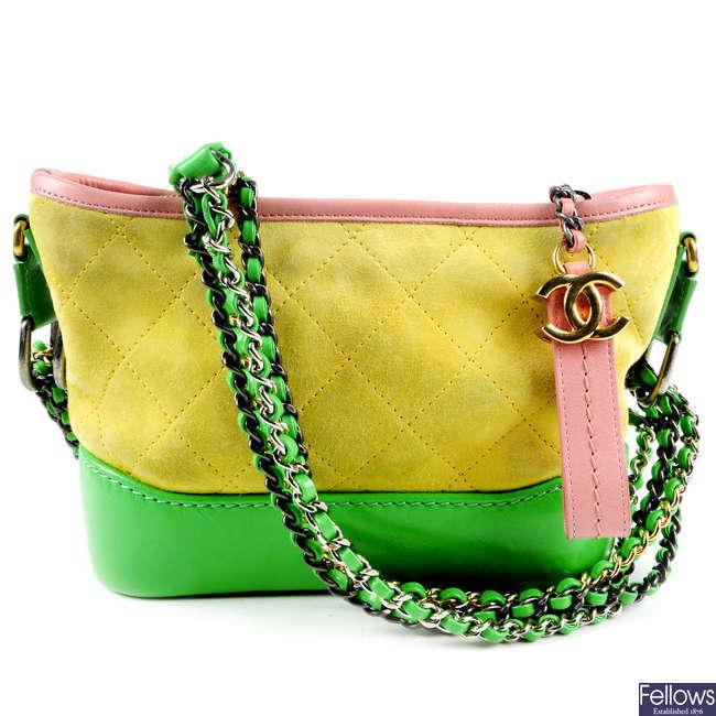 CHANEL - a Small Tricolour Gabrielle Hobo handbag.