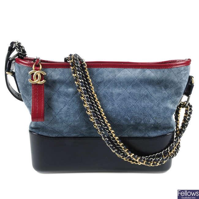 CHANEL - a Tricolour Gabrielle Hobo handbag.