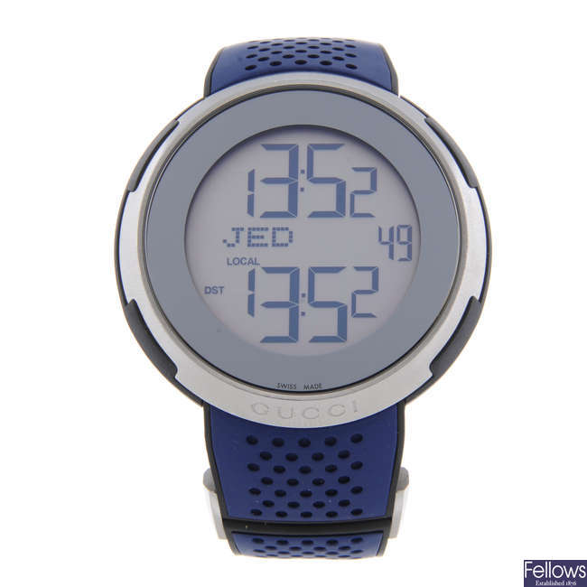 GUCCI - a gentleman's stainless steel 114.1 wrist watch.
