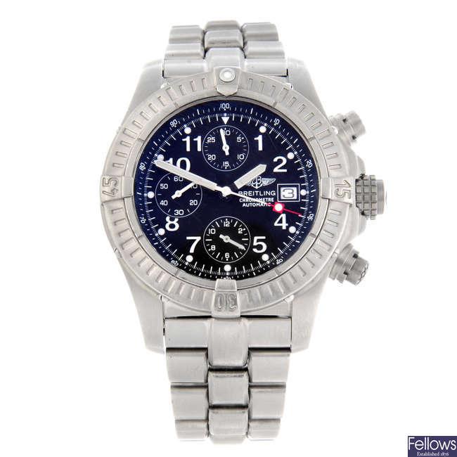 BREITLING - a gentleman's titanium Chrono Avenger chronograph bracelet watch.