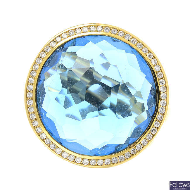 IPPOLITA - a topaz and diamond 'Lollipop' ring.