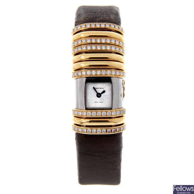 CARTIER - a bi-metal Declaration wrist watch.