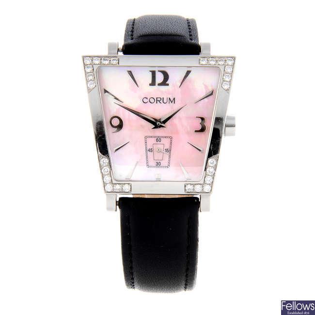 CORUM - a lady's stainless steel Trapeze wrist watch.