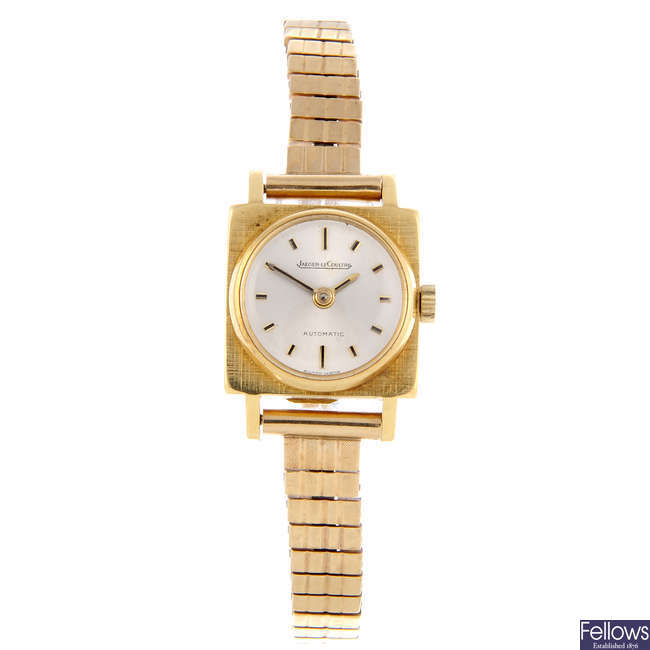 JAEGER-LECOULTRE - a lady's 18ct yellow gold bracelet watch.