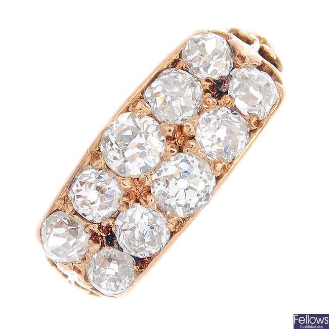 A late Victorian diamond dress ring.