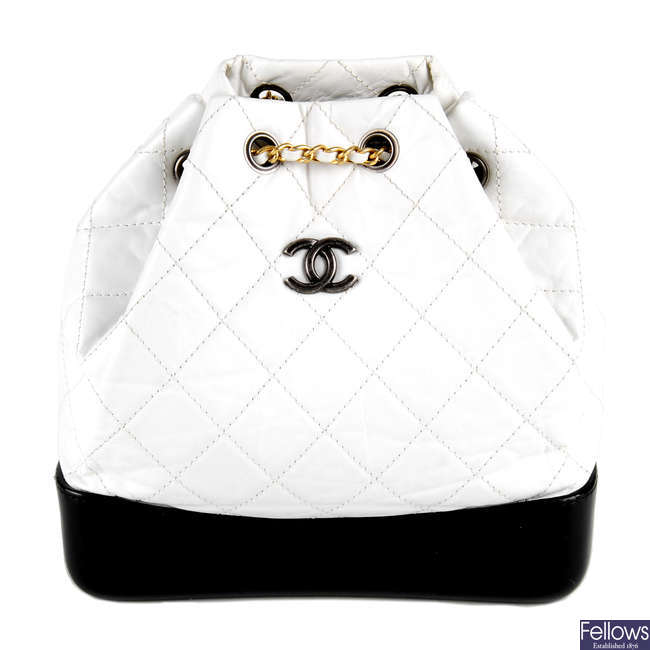 CHANEL - a crinkled calfskin Small Gabrielle backpack.