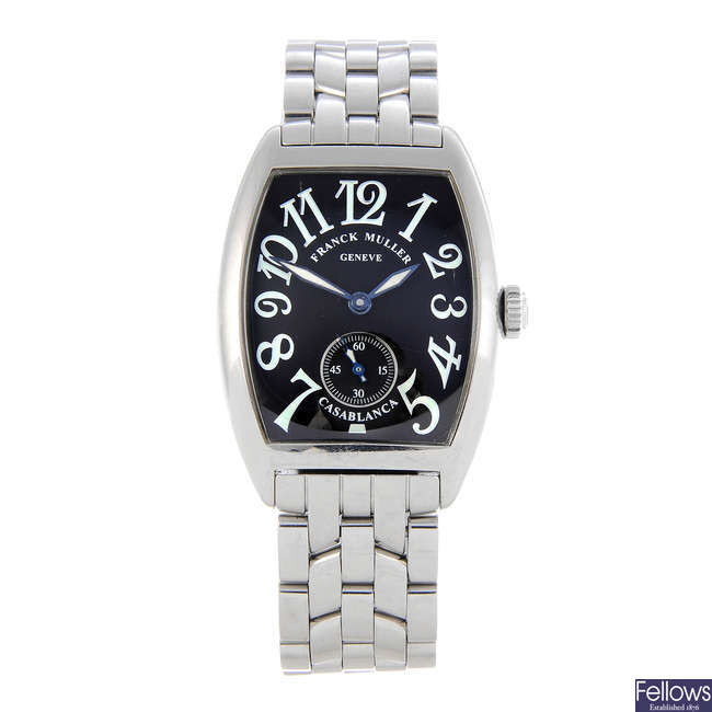 FRANCK MULLER - a lady's stainless steel Casablanca bracelet watch.