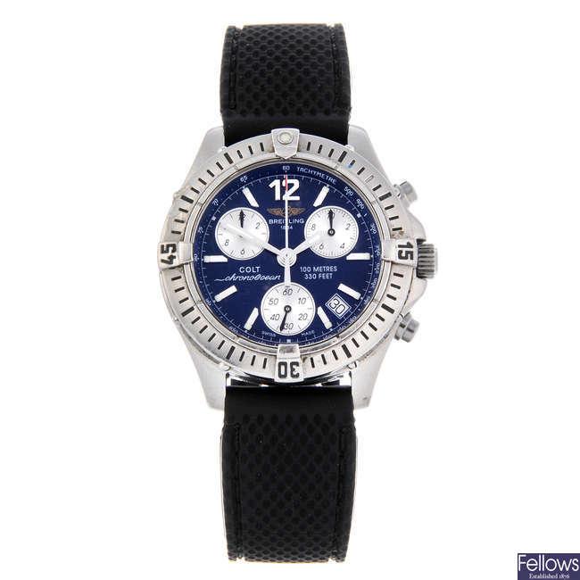 BREITLING - a gentleman's stainless steel Chrono Colt Ocean chronograph wrist watch.