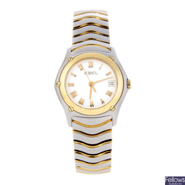 EBEL - a lady's bi-metal Classic Wave bracelet watch.