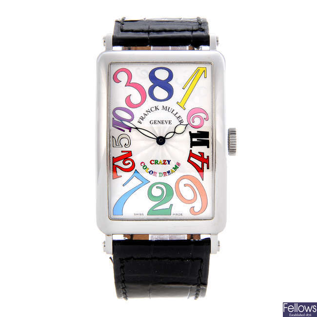 FRANCK MULLER - a gentleman's stainless steel Crazy Hours Colour Dreams wrist watch.