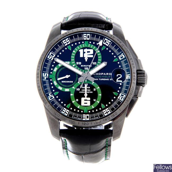 CHOPARD - a limited edition gentleman's ceramic Mille Miglia GT XL 'Dubai Edition' chronograph wrist watch.
