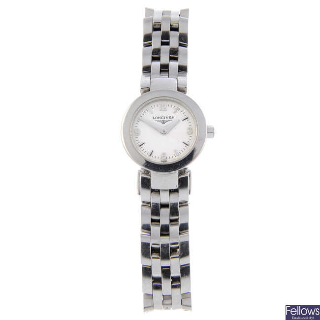 LONGINES - a lady's stainless steel DolceVita bracelet watch with a gentleman's TW Steel watch.