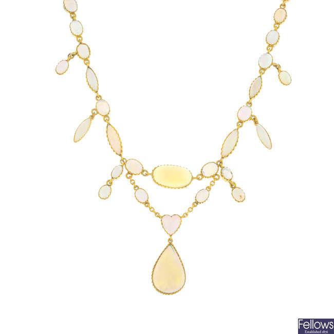 An opal necklace.