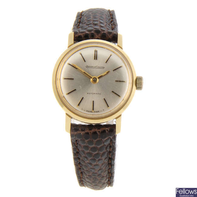 JAEGER-LECOULTRE - a lady's 18ct yellow gold wrist watch.
