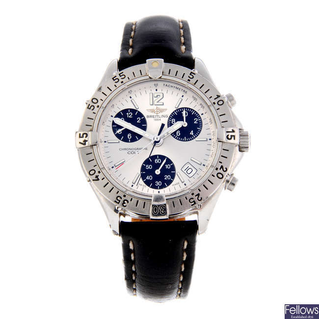 BREITLING - a gentleman's stainless steel Colt chronograph wrist watch.