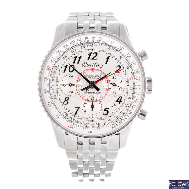 BREITLING - a limited edition gentleman's stainless steel Navitimer Montbrilliant chronograph bracelet watch.