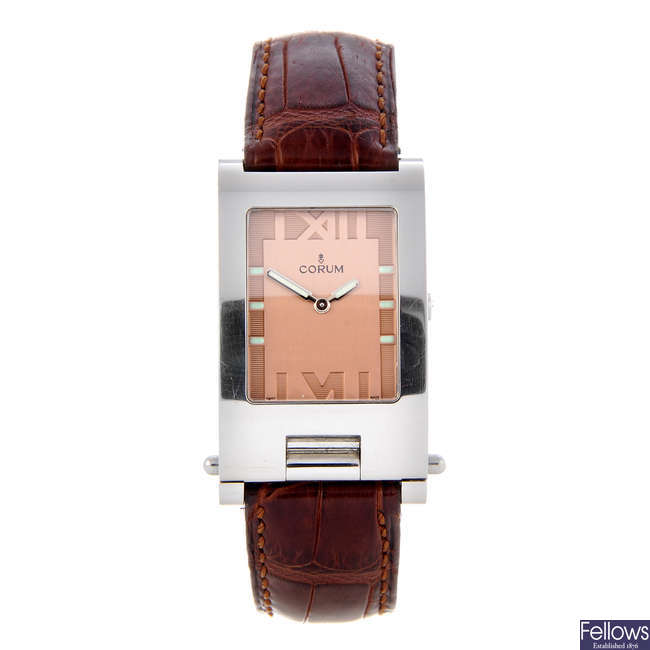 CORUM - a gentleman's stainless steel Tabogan wrist watch.