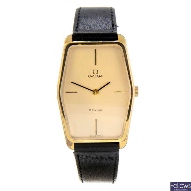 OMEGA - a gentleman's gold plated De Ville wrist watch.
