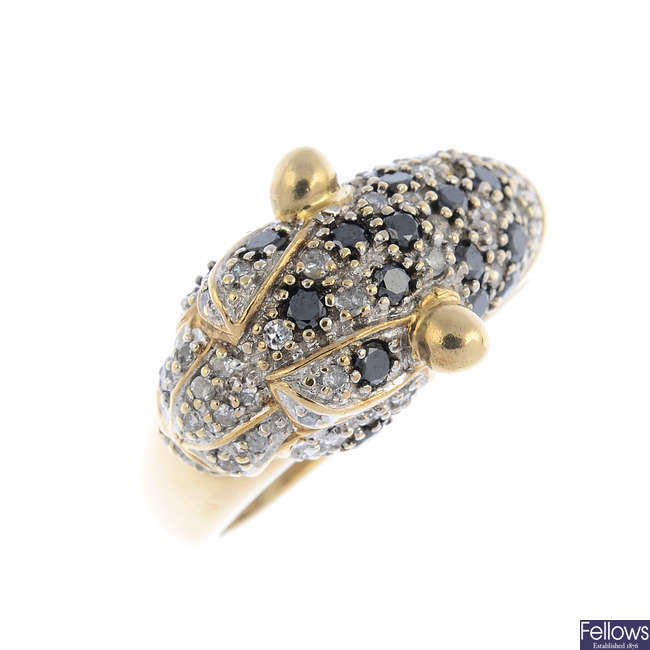 A diamond and gem-set leopard dress ring.