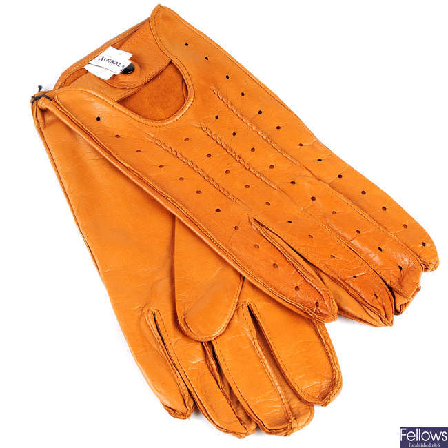ASPINAL OF LONDON - a pair of leather gloves.