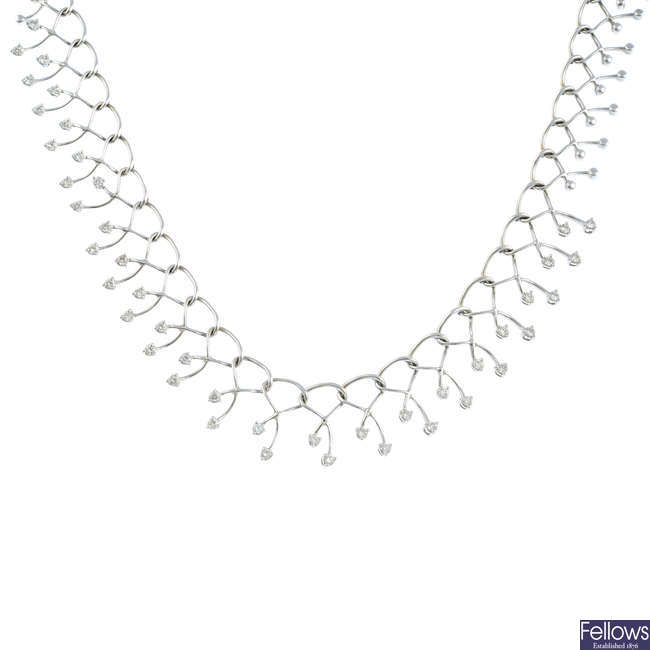 A diamond necklace.