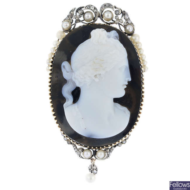 An early 19th century gold cameo by Pietro Pestrini.