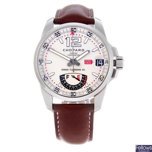 CHOPARD - a gentleman's stainless steel Mille Miglia Gran Turismo XL wrist watch.