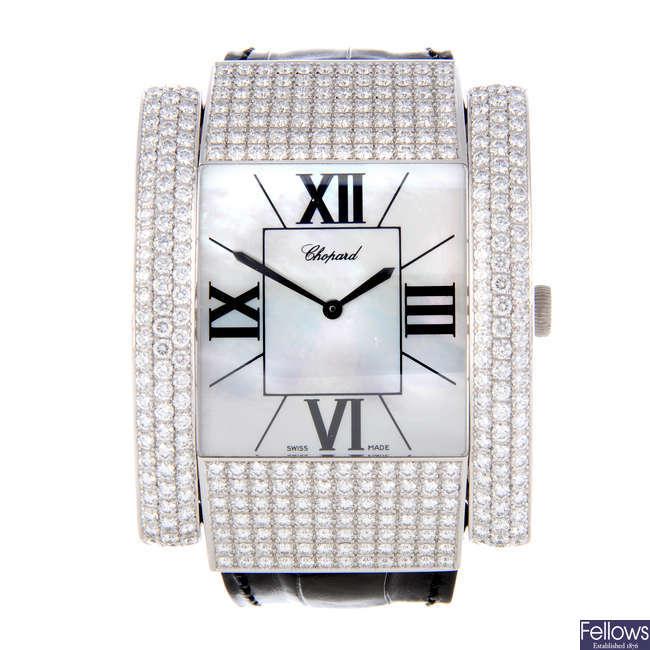 CHOPARD - an 18ct white gold La Strada wrist watch.
