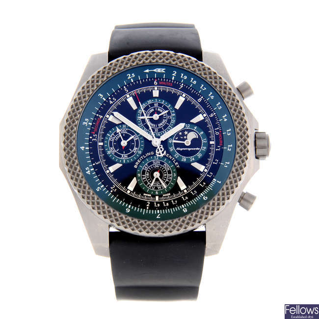 BREITLING - a limited edition gentleman's titanium Breitling for Bentley Supersports chronograph wrist watch.