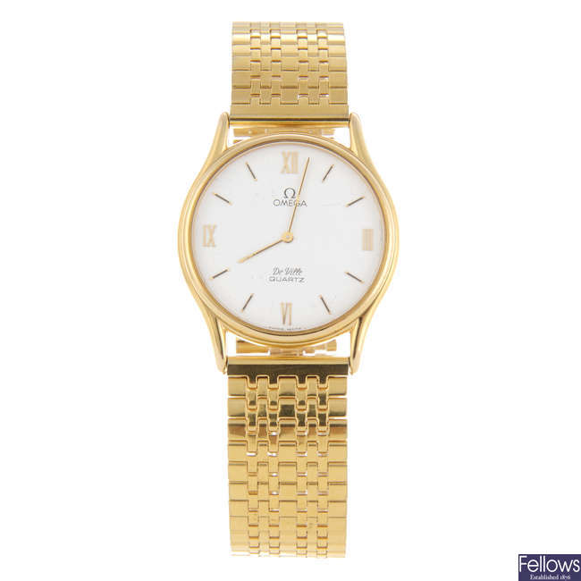 OMEGA - a gentleman's gold plated De Ville bracelet watch.